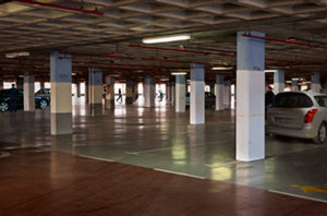 parking,aeroport,interior,albert punti,digital photomontage